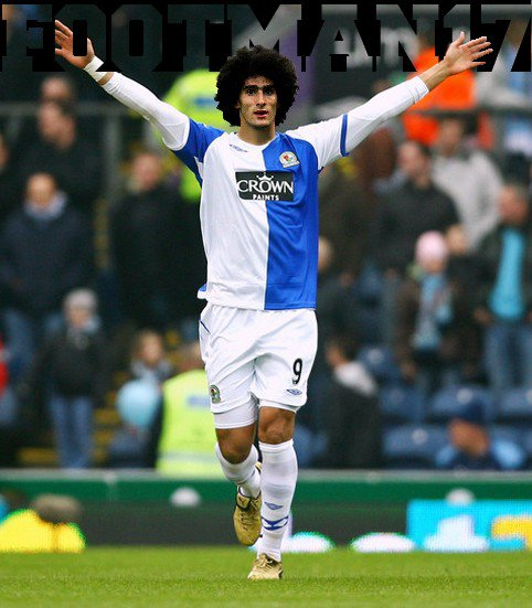 Fellaini de Everton à Blackburn.