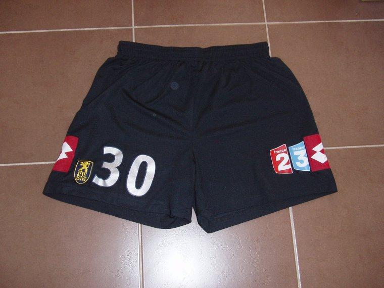 Short porté avec Sochaux à Valenciennes en coupe de la ligue saison 07/08