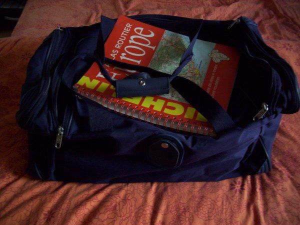 Le sac est pret pour se soir depart 22h avec Nico en double équipage pour Stockholm .