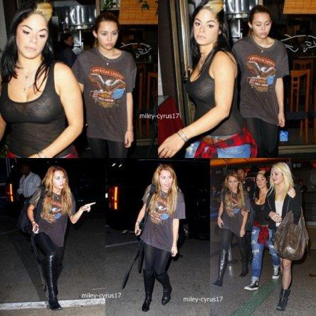 Miley au restaurant Matsuda le 3 novembre et à l'aéroport de LAX pour se rendre en Europe le 3 novembre aussi.