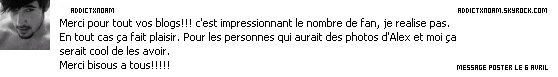 - Message facebook de Noam.
