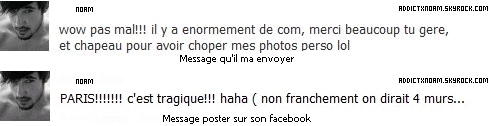 - Message facebook.
