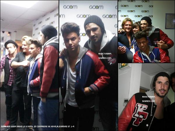 - Noam, Kevin, J-P & Alexandre à la GoomRadio le 12 Avril.