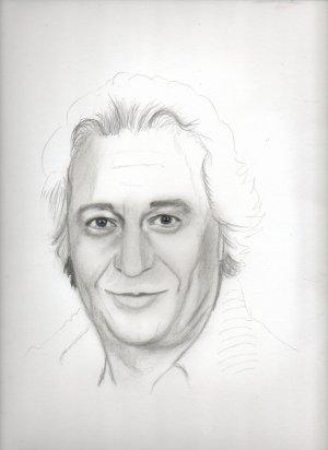 début du dessin de Christian Clavier ..okkkayyy ;)
