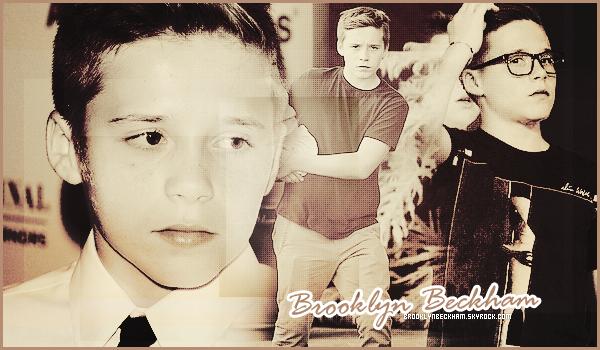 Bienvenue sur BrooklynBeckham, ta première Source sur le premier fils des Beckham.