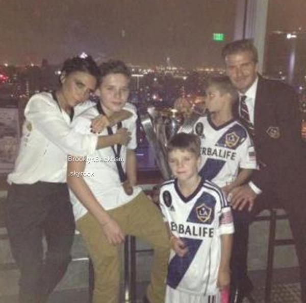 Une nouvelle victoire pour David Beckham. Il fête ça en famille.