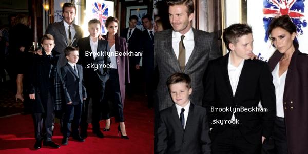 Le 11 Décembre,Brooklyn, ses parents et ses frères étaient invités à la première de Viva Foreverau théâtre Piccadilly à Londres. Comment trouvez-vous Brooklyn? Plutôt mignon n'est ce pas?