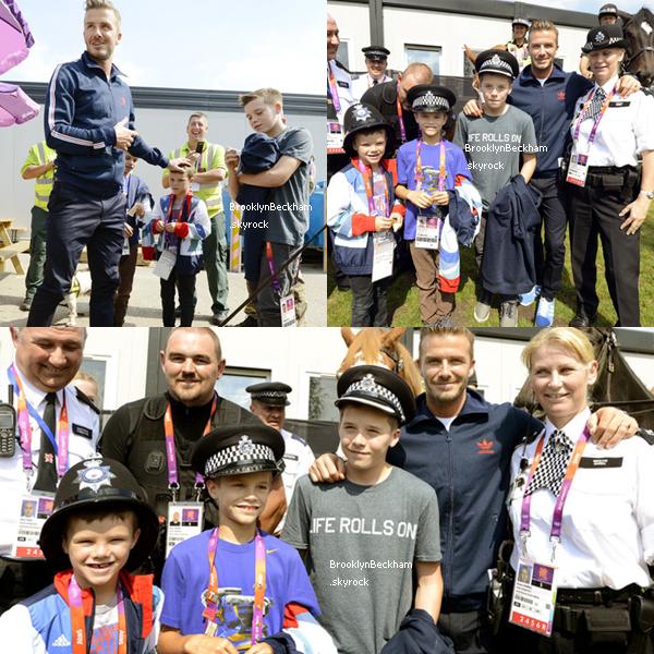 Le 10 Aout 2012, Brooklyn, son père et ses deux frères rencontraient le personnel desécuritédes Jeux Olympiques de Londres.
