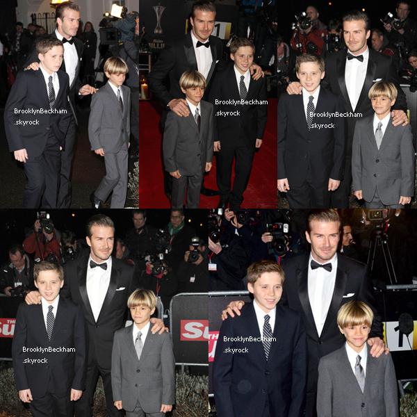 Le 19 Décembre 2011, Brooklyn, son père et son frère Romeo assister au prixmilliairesà l'Imperial War Museum de Londres.