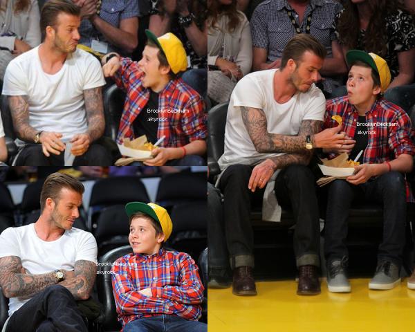 Le 4 Mars 2012, Brooklyn et son père aller applodire les Lakers contre les Miami Heat à Los Angeles en Californie.