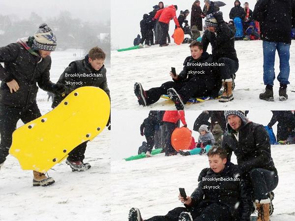 Le 21 Janvier 2013, Brooklyn et ses son père sont partis joué et profiter de la neige.