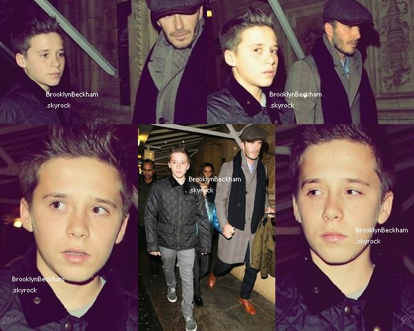 Le 27 Janvier 2013, Brooklyn et sa famille ont étaient aperçu en allant Cirque du Soleil ,au Royal Albert Hall ,à Londres. Jean beigy, basket et blouson matelas. TOP ou FLOP ?