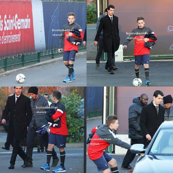 Mardi 19 Février 2013, Brooklyn s'est entraîné avec l'équipe de son père, le PSG.