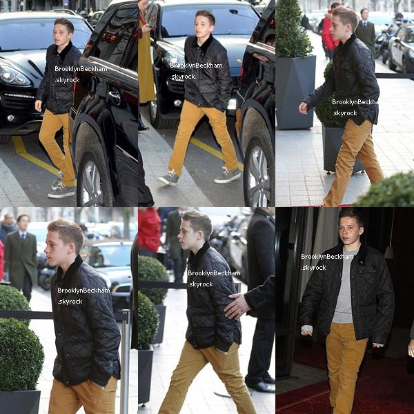 Jeudi 21 Février 2012, Brooklyn et sa famille ont étaient vus au Royal Monceau pour re fêter l'anniversaire de Cruz mais cette fois-ci à Paris.