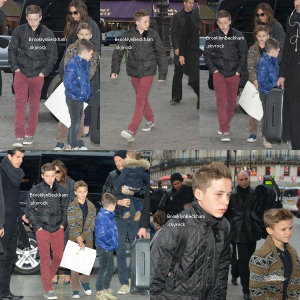 """Jeudi 22 Février 2013, Brooklyn est sa famille ont étaient vus plusieurs fois aujourd'hui, notamment à la """"Station St Pancras"""" et à la """"Gare du Nord"""". Un retour pour Londres?"""