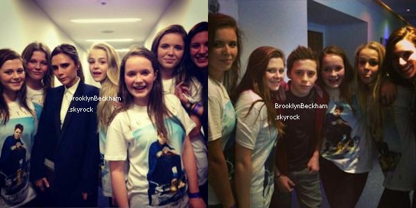 Brooklyn et sa maman Victoria se sontrendus à un concert de Justin Bieber et ont pris la pose avec de nombreuses fans.