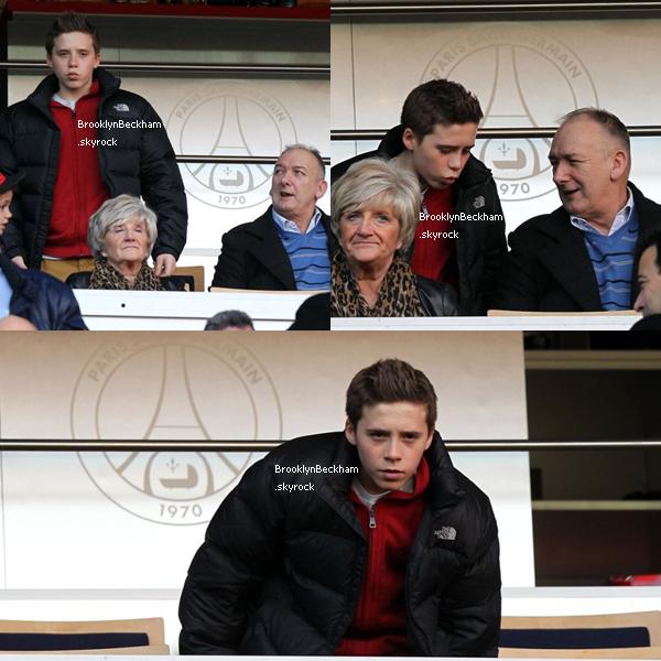 Samedi 9 Mars, Brooklyn, sa mère, ses frères, Sandra et Ted assister au match PSG vs Nancy.