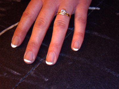 pte french sur ongles courts