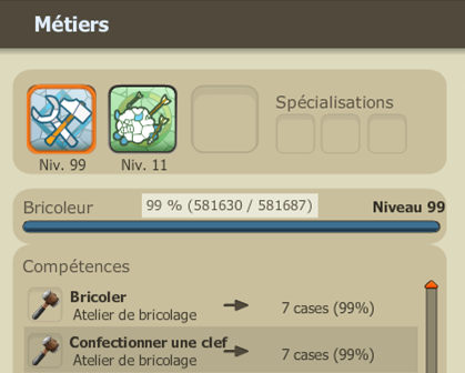Up métier lvl 100.