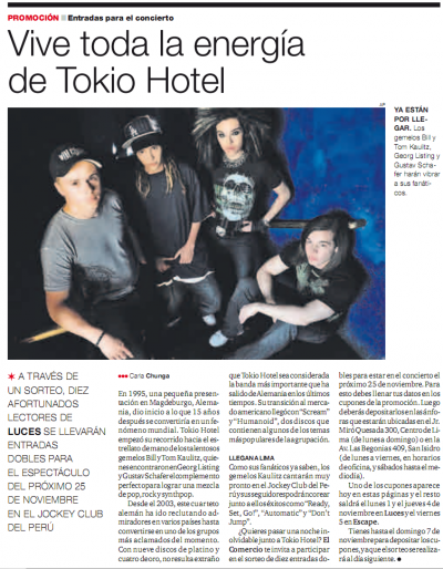 El Comercio 31.10.10 (Pérou)