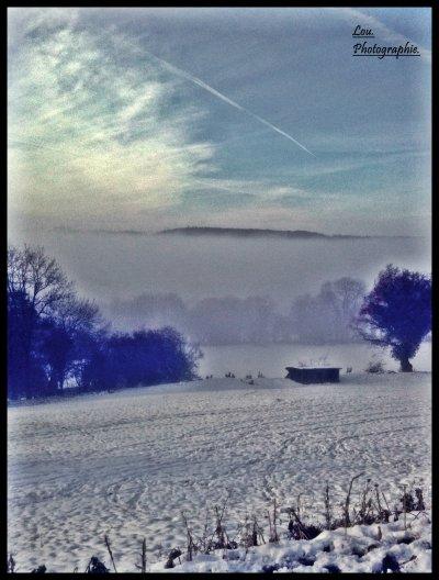 La Normandie sous la neige.