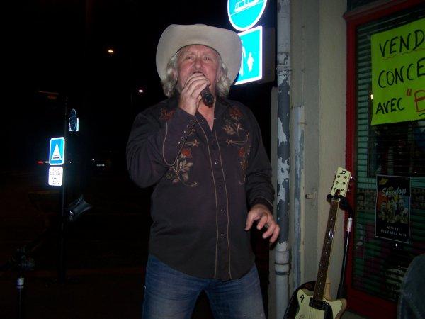 Avec Berry Grimm chanteur country Belge