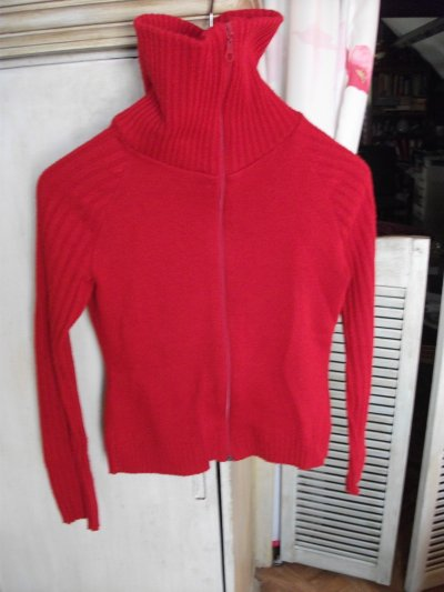 gilet rouge taille L