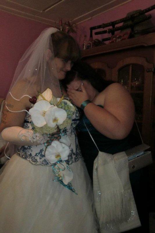moi et ma maman le jour de son mariage