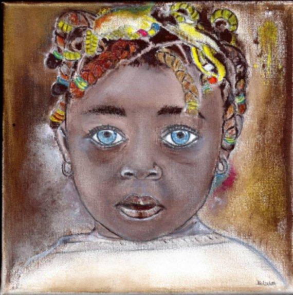 tableau personnages enfant antille