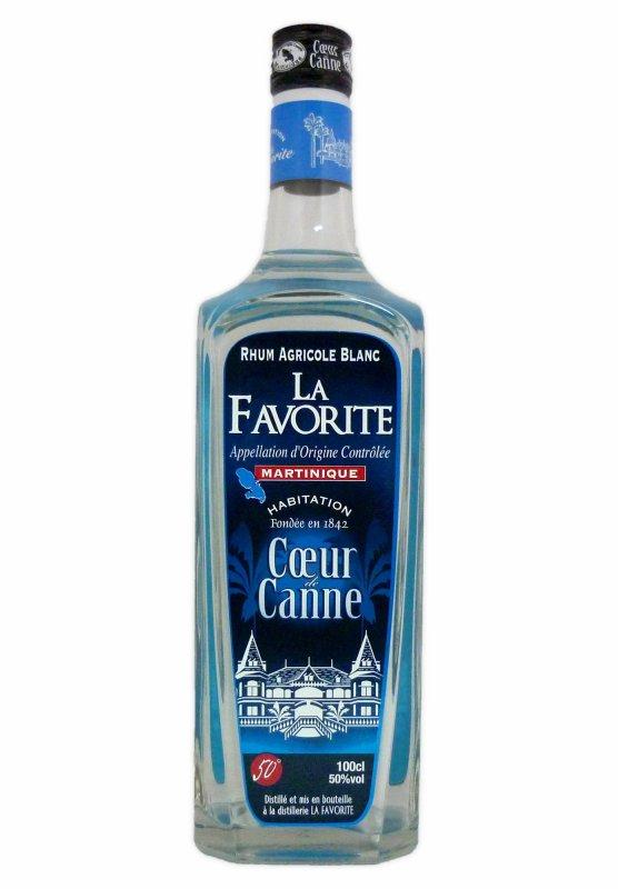 La Favorite - Rhum blanc - C½ur de canne - 1L - 50° distillé lamentin martinique