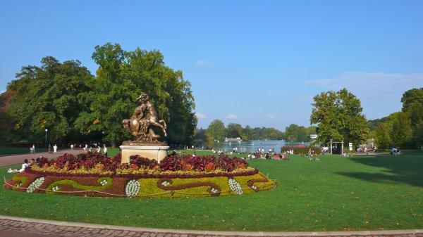 Lors d'une visite du parc de la Tête d'Or, les surprises sont toujours au rendez-vous. Ici, une mosaïque de plantes réalisée par les jardiniers du parc.