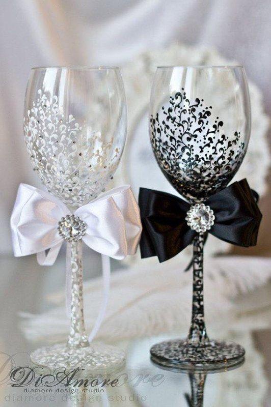 Verres à Champagne mariée et le marié-