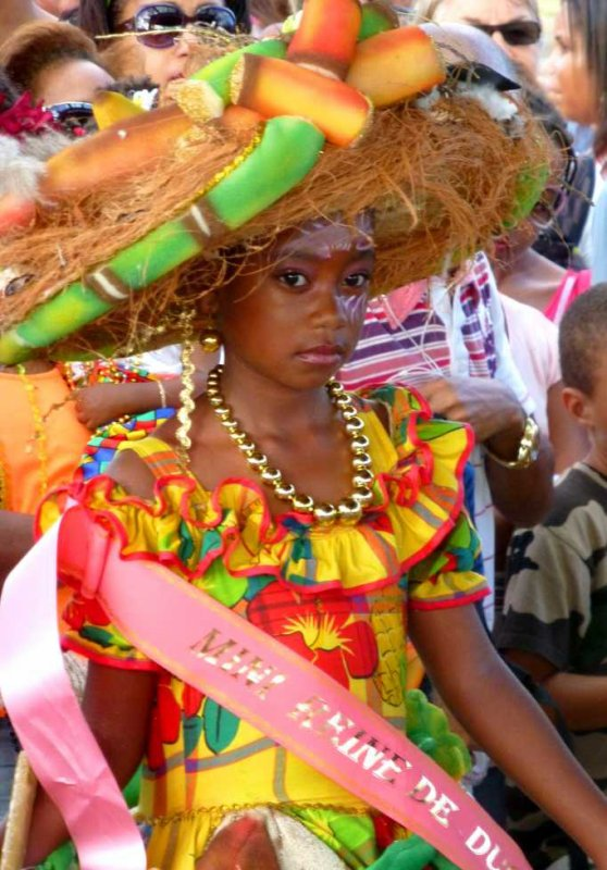 La Mini-reine du carnaval Martinique