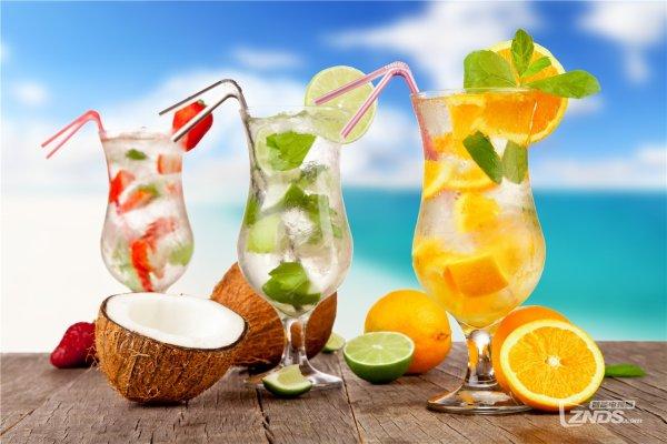 cocktails face à la mer