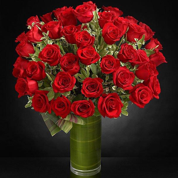 jolie bouquet de rose en pots