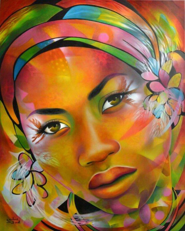 Vétue de ta couleur qui est vie, de ta forme qui est beauté