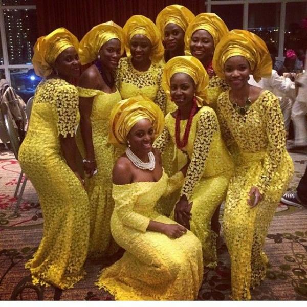 Demoiselles d'honneur à l'Africaine