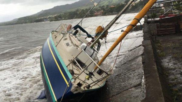 La mer reste dangereuse en Martinique après le passage d'Irma