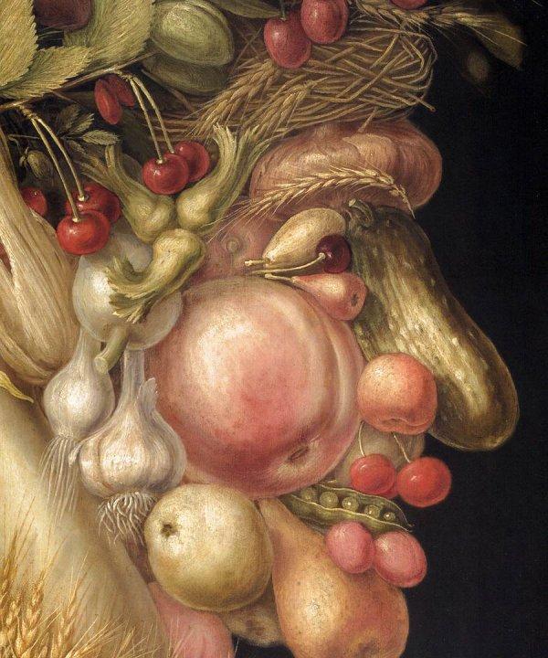 Créations d'automne - Tête à modeler en fruits et légumes