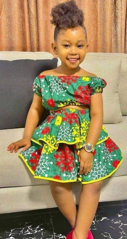 fillette chic fillette model robe pagne petite fille