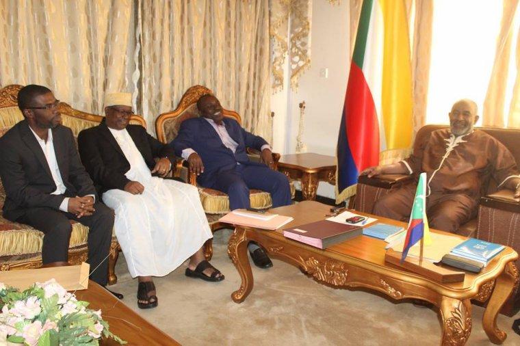 Le Président Azali a reçu les trois gouverneurs des îles autonomes