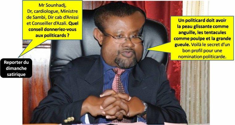 Dimanche Satirique/Dr Sounhadj dévoile les secrets des nominations politicardes