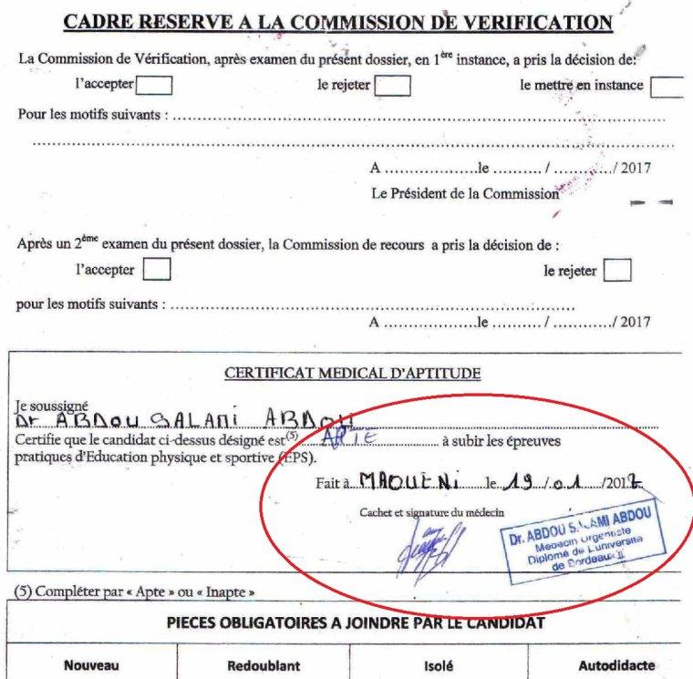 Scandaleux ! Le gouverneur Salami à la tête d'un trafic de certificats médicaux des élèves en classe d'examens