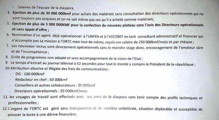 Chèque sans provision, le directeur de l'ORTC refuse de se rendre à la gendarmerie