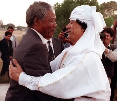 Hommage aux deux figures historiques africaines : Nelson Mandela et Mouammar Kadhafi