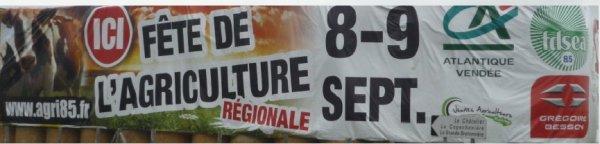 ce week-end la fête de l'agriculture regional à la Bruffiere 85530