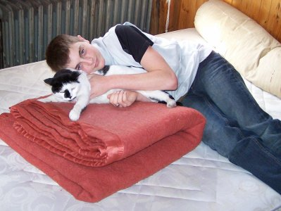 Ced et Sckart le chat de notre pére!!