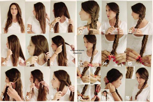 [Tutoriel coiffure n°1] La tresse en épi de blé .