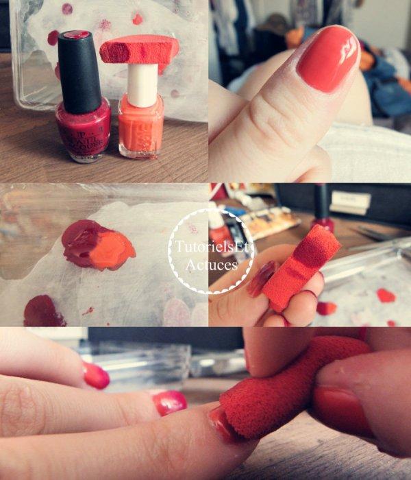 [Tutoriel nail art n°1] Le dégradé de couleurs
