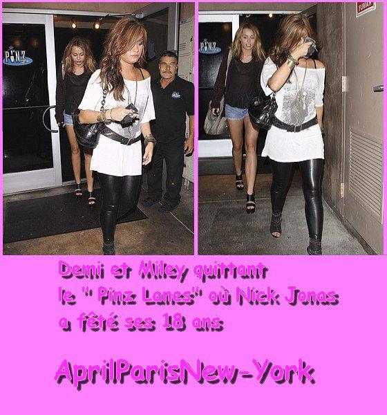 News Spécial Demi et Miley :D